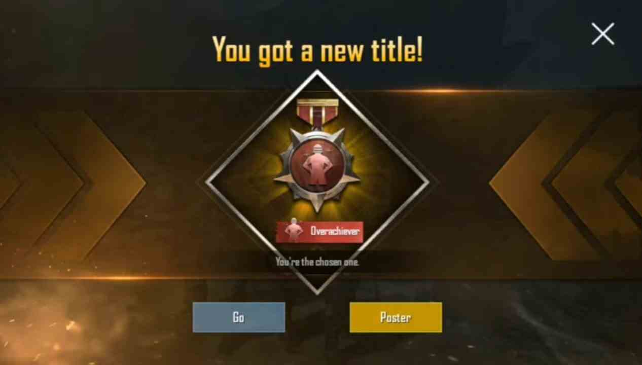 How to get Overachiever title in PUBG MOBILE?